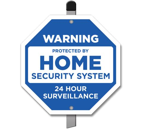 protected by home security system yard sign f8102 by