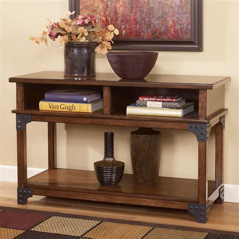 ashley furniture sofa table ashley signature design murphy t352 4 rustic sofa table
