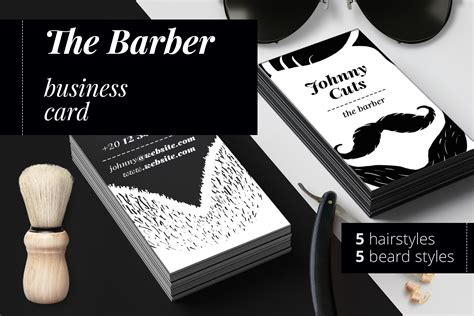 barber business card template the barber business cards templates by design bundles