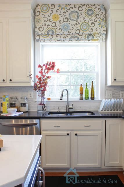 kitchen shades ideas before after diy shades onlinefabricstore net