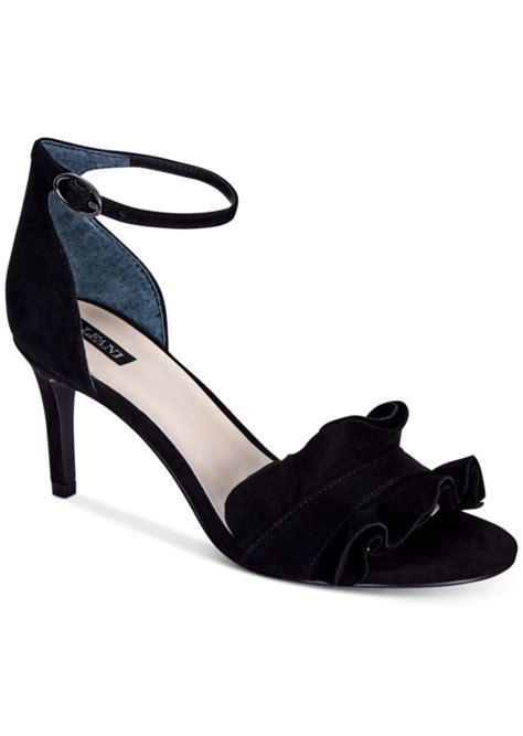 dress shoe macy s alfani alfani s grayy ruffle dress sandals created for macy s s shoes