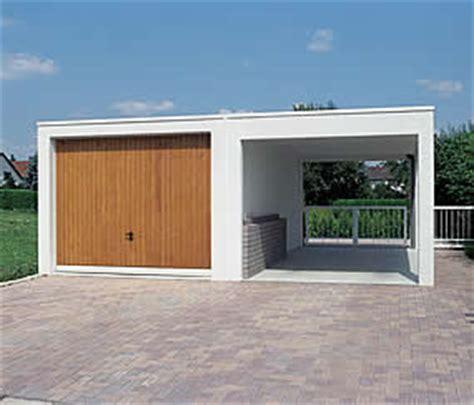 fertiggarage mit carport schlicht und das garagen carport garagen welt