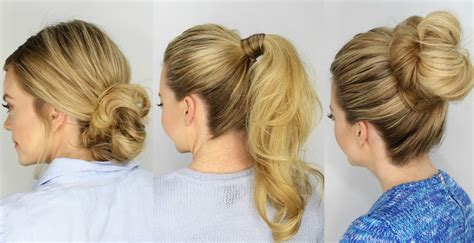 Five Minute Hairstyles by 3 Easy 5 Minute Hairstyles