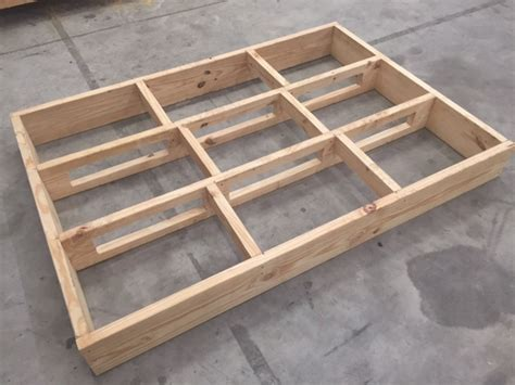 how to build a size bed frame diy size bed frame howtospecialist how to build