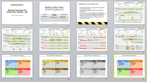 plan on a page template powerpoint powerpoint rollout plan template for your project roll out