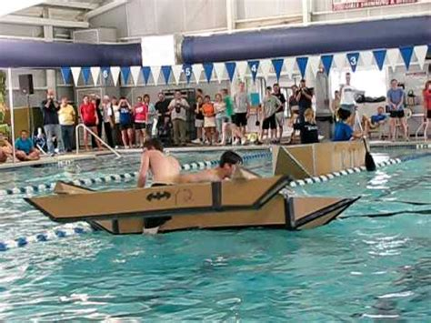 cardboard boat project high school cardboard boat race fail youtube