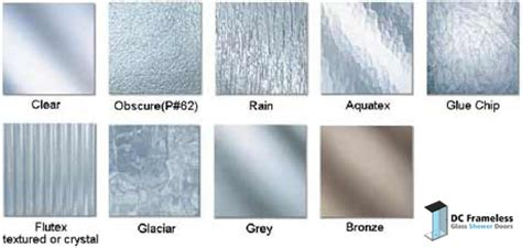 Shower Doors Glass Types Shower Glass Types Dc Frameless Glass Shower Doors