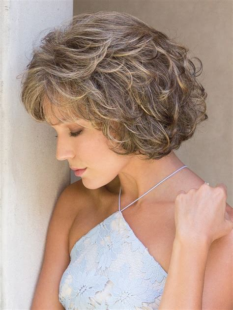 how to curl chin length bob overnight mariah by noriko short bob with tousled curls wigs com