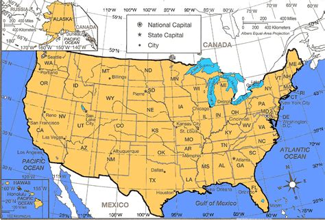 map of united states political political map of usa longitude and latitude and