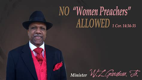 preacher s church of christ sermon no women preachers allowed