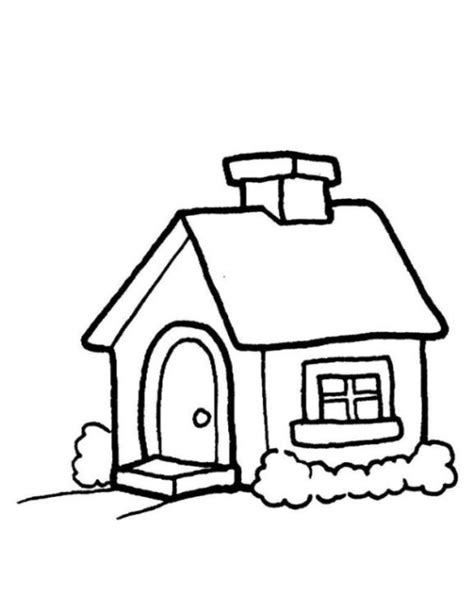 small house coloring page ausmalbilder zum ausmalen malvorlagen haus kostenlos 2