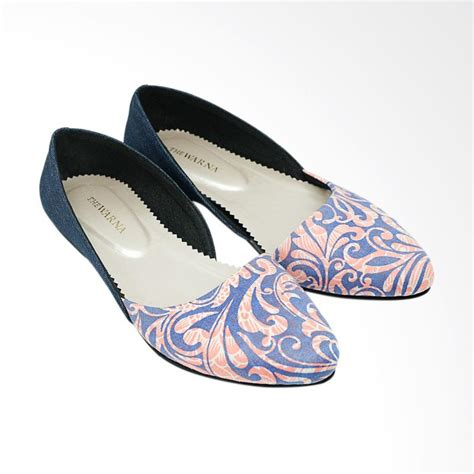 Sepatu The Warna Candani Blue jual the warna anjani sepatu flat wanita dusty blue