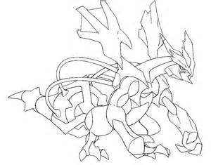 Pokemon Black Kyurem Coloring Pages Sketch Page sketch template