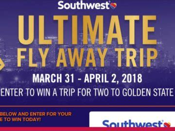 Southwest Airlines Sweepstakes - southwest airlines ultimate fly away trip sweepstakes