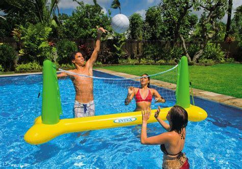 rete da pallavolo da giardino intex rete pallavolo gonfiabile gigante da piscina con