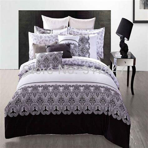 black and white comforter set full luxury black and white bedding sets 4pcs 100 cotton duvet