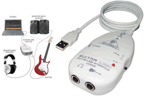Usb Guitar Link Behringer behringer guitar link ucg102 goodymusic it