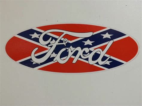 ford rebel flag ford logo with rebel flag vehicle window decal sticker 18