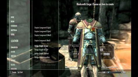 skyrim knight of skeleton armor mod skyrim mods hedge knight armor youtube