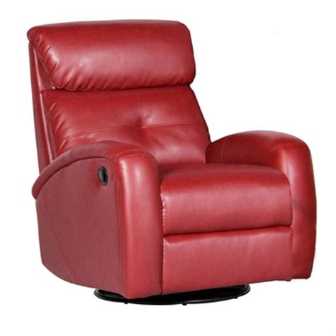 push button recliner dezmo push button recline swivel glider arm chair in red