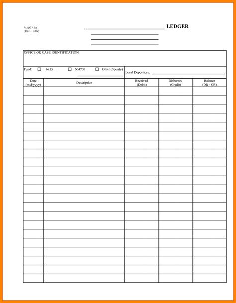 6 Small Business Ledger Template Ledger Review Business Ledger Template