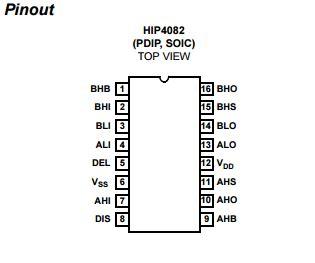 hip4082 bootstrap capacitor details of hip4082ipz 80v 1 25a peak current h bridge fet driver linear integrated circuits