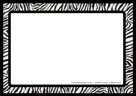 Printer Bordir Zebra Border Print