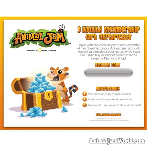 Animal Jam Membership Giveaway 2017 - animal jam membership codes no download