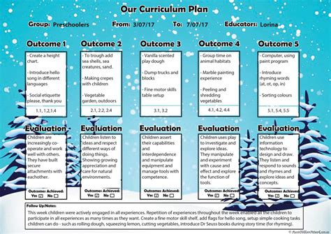 winter curriculum plan aussie childcare network