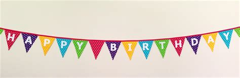 Sale Bunting Flag Happy Birthday Banner Happy Birthday Th7702 polka dot happy birthday bunting banner flags