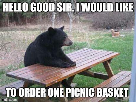 Bear At Picnic Table Meme - sir yogi of the bears imgflip