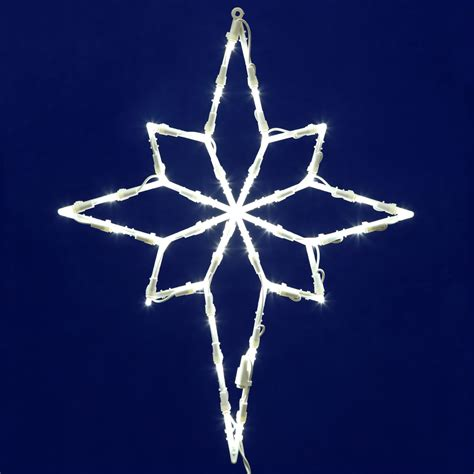 led bethlehem star window decor 18 quot x 14 quot santa s quarters
