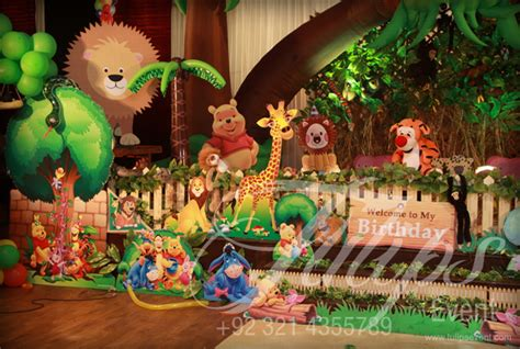 jungle themed decorations disney jungle themed birthday planner in lahore