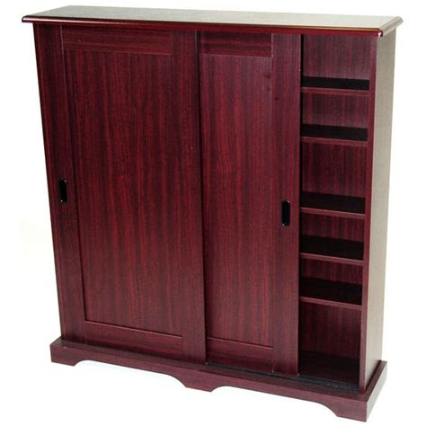 media storage 4d concepts sliding door media cabinet