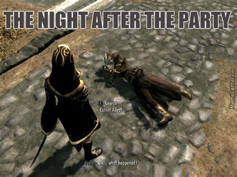 Meme Skyrim - skyrim meme quot party time quot by kirotheglitch meme center