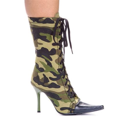 camo high heels high heel camouflage ankle boot pointy toe 457 camo ellie
