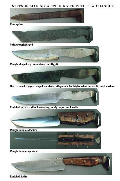 knife steps steps to a rail spike knife manteresting