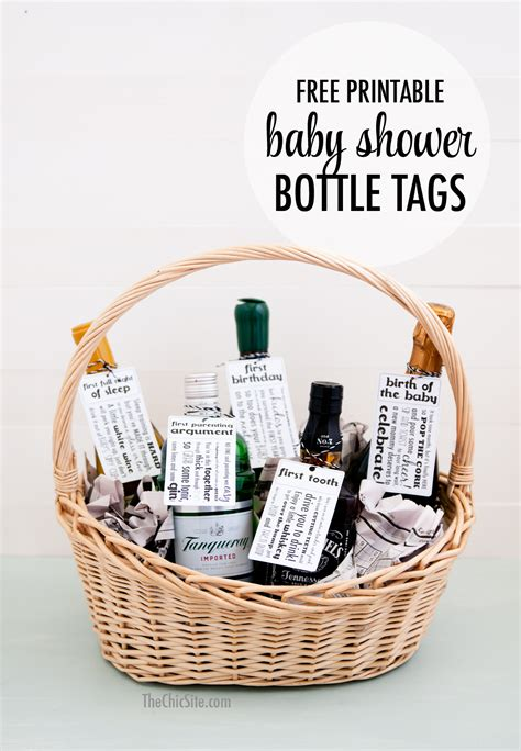 printable gift basket tags baby shower gift tags the chic site