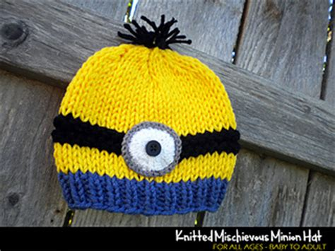 Knit Minion Hat Pattern