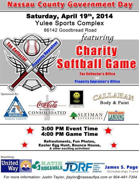 Nassau County Florida Property Records Property Appraiser And Tax Collector To Host Charity Softball
