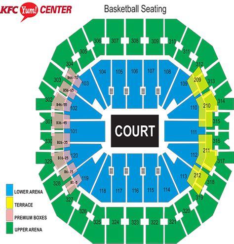 kfc yum center floor plan seating charts kfc yum center