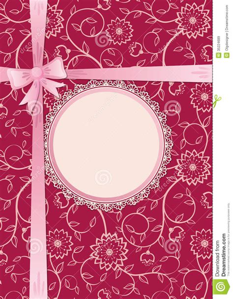 Gift Card Frame - gift card with lace frame and ribbon royalty free stock images image 35224689