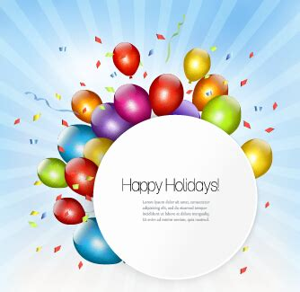 happy birthday background design vector happy birthday colorful balloons art background vector 01