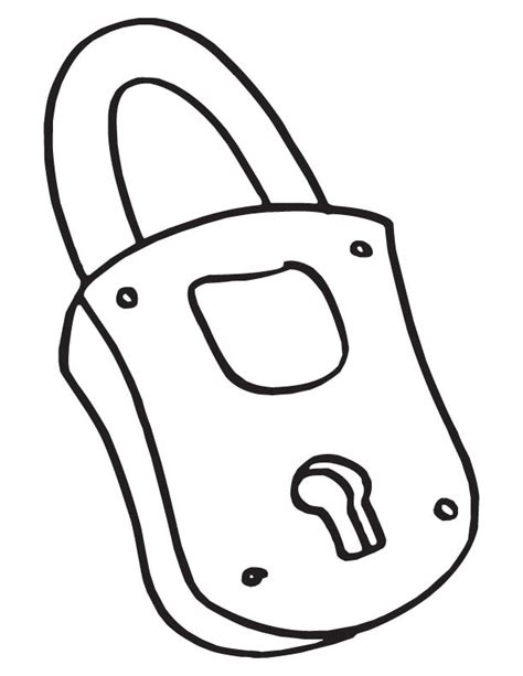 coloring page lock and key coloring old lock coloring pages
