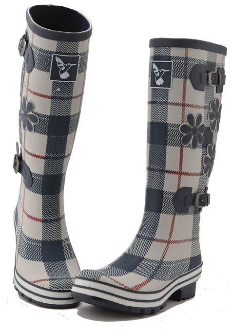 rubber st size evercreatures st george funky rubber wellies tartan