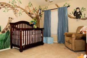 boy jungle themed nursery decor