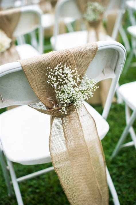 Stuhldekoration Hochzeit by Chairs Burlap And Barns On