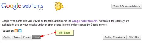 tutorial web fonts font baru dari google web fonts tutorial blogger blogspot