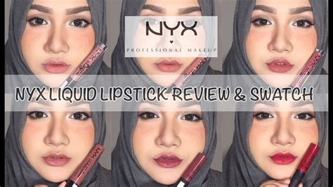 Lipstick Nyx Indonesia nyx liquid lipstick review swatch bahasa