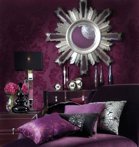 purple and silver room living room purple glam interiors by color